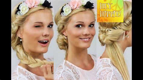 festivalfrisuren mit haarband  frisuren step  step
