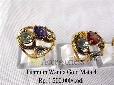 Vee Gelang Titanium Batu Giok Kuning Murah titanium wanita grosir cincin murah