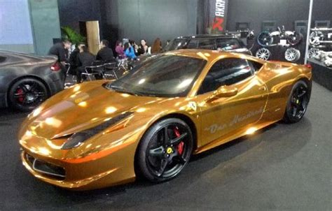 gold ferrari gold cars and rich china