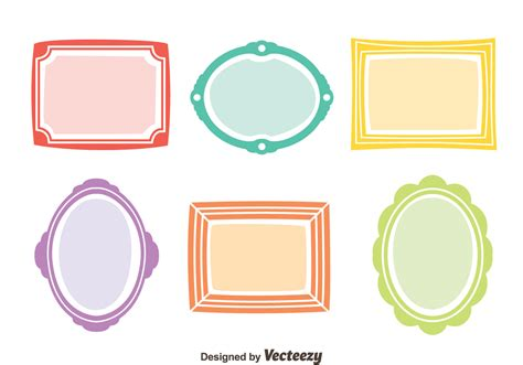 colorful picture frames colorful frame vector set free vector
