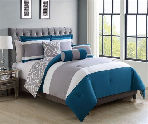 teal and gray bedding piece queen brenda teal gray