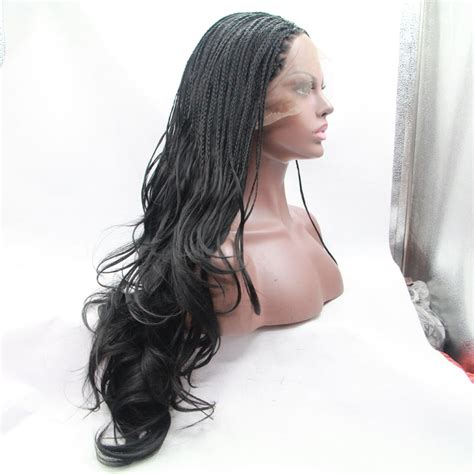 braided wigs for black women handemade braided wavy lace front wigs for black women