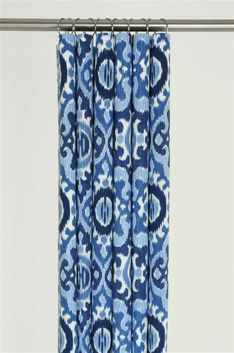 blue ikat drapes blue ikat shower curtain www imgkid com the image kid