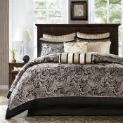 madison park aubrey jacquard comforter set madison park aubrey 12 piece gold jacquard comforter set
