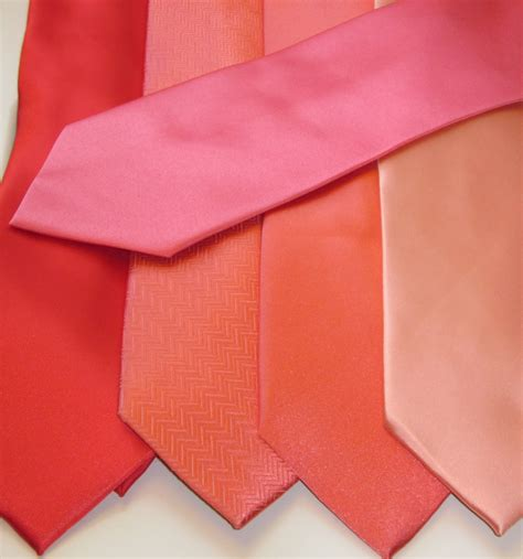 bonnieprojects coral neckties