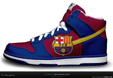 barcelona football shoes nike dunk fc barcelona computer designed by jordehzz