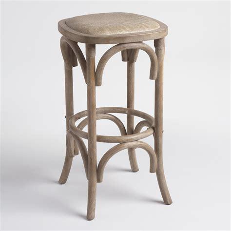 Rattan Seat Bar Stools by Gray Yasmin Backless Barstool With Rattan Seat World Market