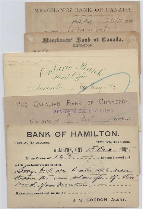 Banc Postal by Canadian Bank Postal Stationery