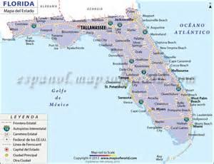 mapa estado de florida estado unidos de america