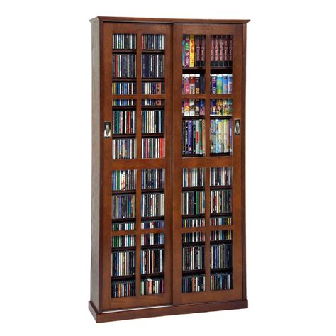 multimedia storage cabinet leslie dame multimedia storage cabinet walnut ms 700w