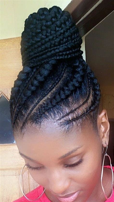afro and cornrows braided front w afro 1 jpg all hair makeover african ponytail cornrow