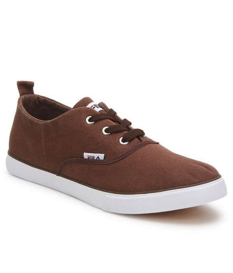 fila brown canvas shoes price in india buy fila brown