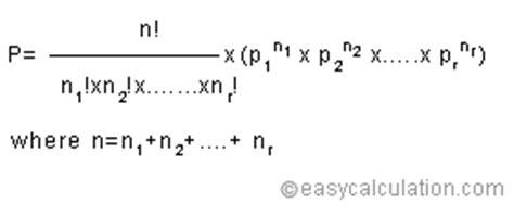 multinomial distribution calculator for probability statistics