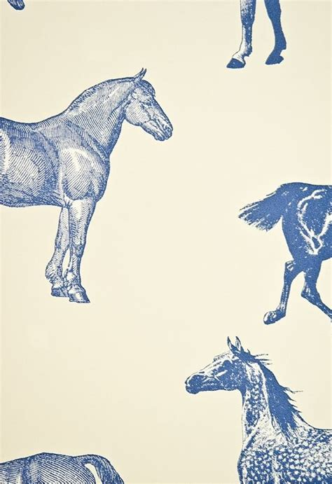 white pattern in horses collette wallpaper print pattern textile