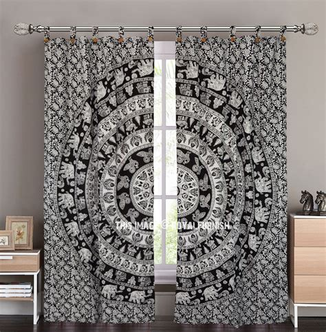 tapestry curtains sale black and white indian elephant mandala tapestry curtain