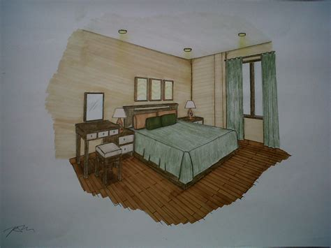bedroom perspective drawing sheila s project interior design 2 living home project
