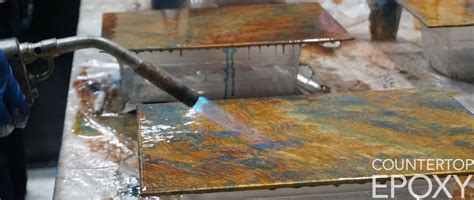 How to Properly Torch Your Epoxy Countertop   Counter Top