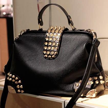 Ezra Studded Ab Bag Black chic black studded handbag on luulla