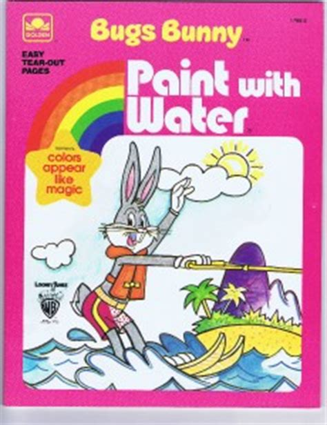 1980 Bugs Bunny Paint With Water Color Book By Golden Nm Paint With Water Coloring Books