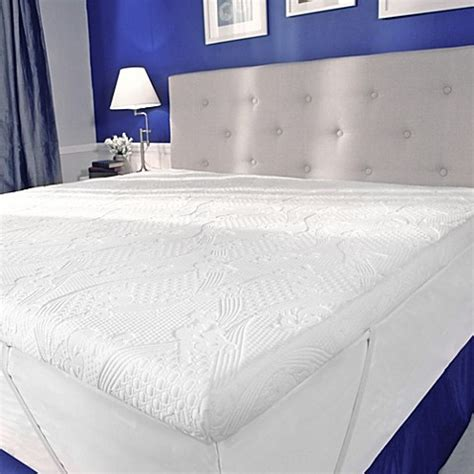 bed bath pillow top mattress pad mypillow 174 mattress topper bed bath beyond