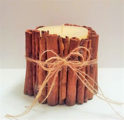 diy cinnamon stick candle decor