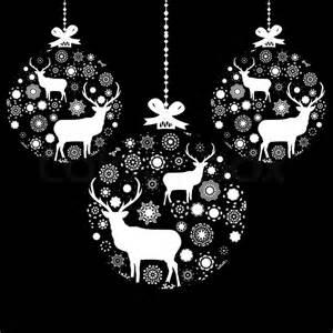 black and white christmas ball eps 8 stock vector