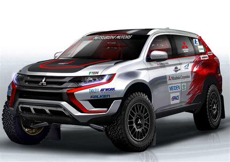 2015 mitsubishi rally car mitsubishi ส ง outlander phev เข าร วมการแข ง rally