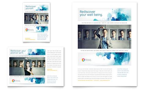 Behavioral Counseling Flyer Ad Template Design Counseling Brochure Templates Free