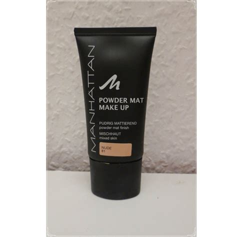 test foundation manhattan powder mat make up farbe