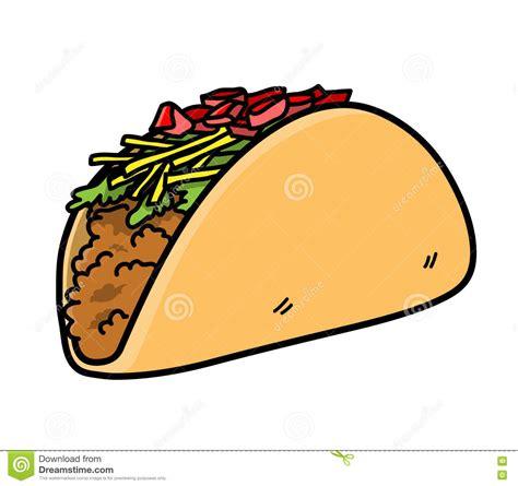 imagenes kawaii de tacos icono mexicano del vector de la comida del taco