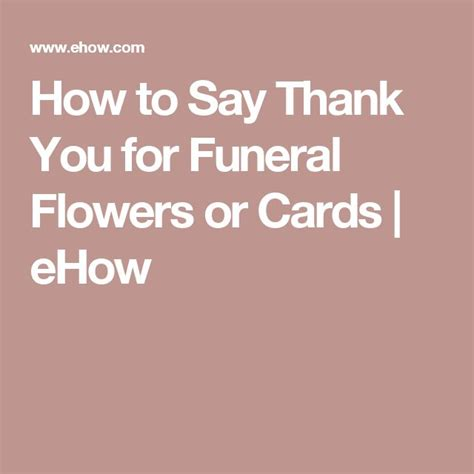 What To Say In A Funeral Thank You Card