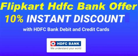 bookmyshow offers hdfc flipkart hdfc offer 10 instant discount with hdfc bank