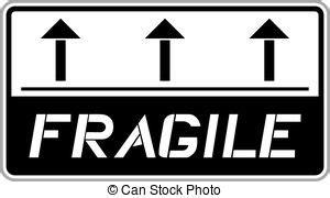 Fragile Zerbrechlich Aufkleber by Vektorbild Aufkleber Zerbrechlich Fragile Sticker