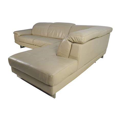 adjustable couch 83 off beige italian leather couch with adjustable
