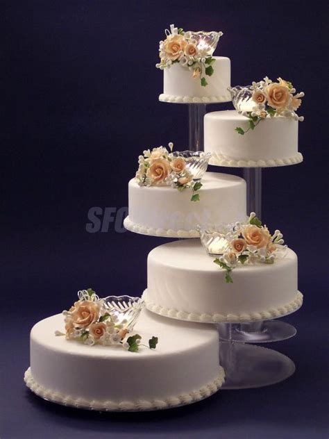 Wedding Cake Holder by 5 Tier Cascade Cup Cake Stand Clear Acrylic Wedding