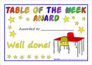 Of The Week Certificate Template by Table Of The Week Certificates Sb2126 Sparklebox
