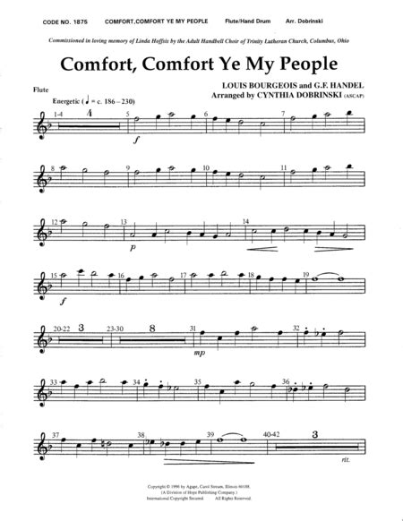 comfort comfort ye my people comfort comfort ye my people sheet music by cynthia