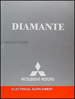 2004 mitsubishi diamante wiring diagram repair shop manual original
