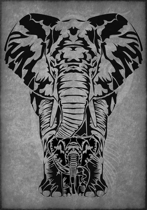 tattoo tribal patterns tribal elephant family αναζήτηση