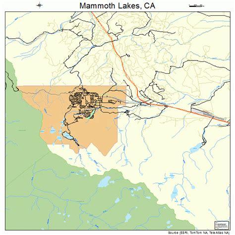 california map lakes mammoth lakes california map 0645358