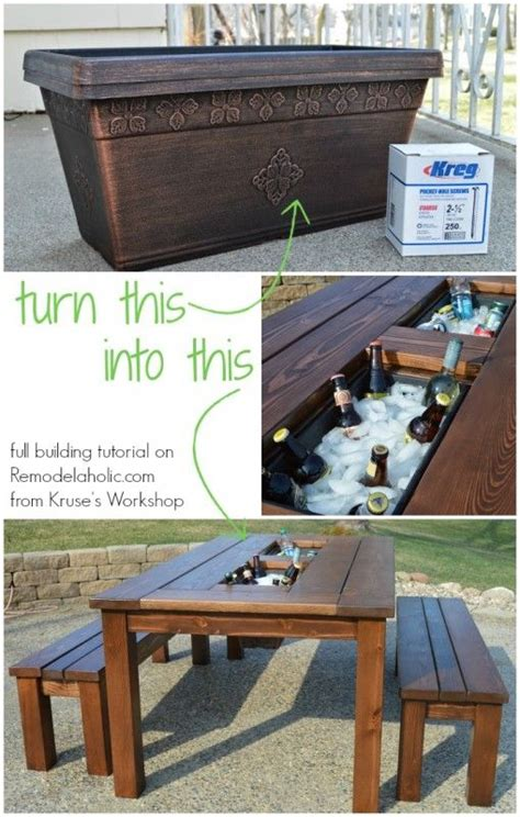 how to build a patio table 25 unique drink coolers ideas on diy
