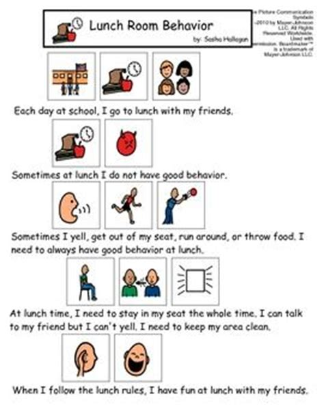 visual social story packet for children with autism