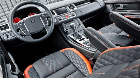customized range rover interior santorini black rs600 kahn cosworth range rover sport