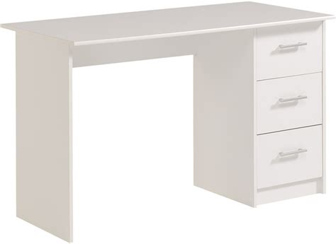 avenue infinity white computer desk 3 drawers