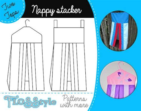diaper holder pattern free nappy stacker pdf pattern 2 designs with easy instructions