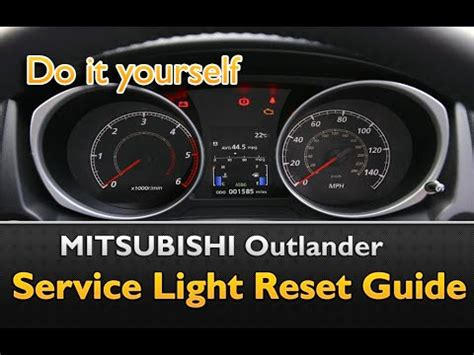 Reset Light by Mitsubishi Outlander Service Light Reset Guide