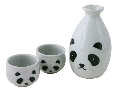 Kitchen Canisters Set minimalist s panda ceramic sake set for two
