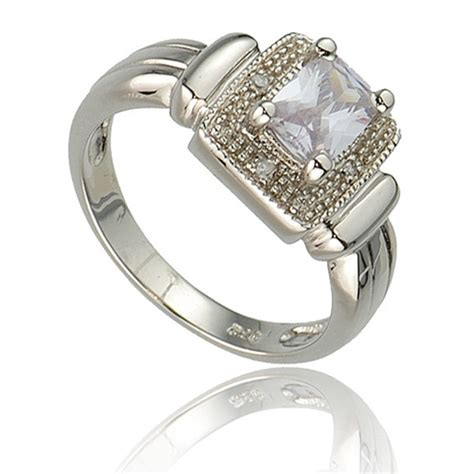new lavender cz royal wedding engagement silver ring ebay