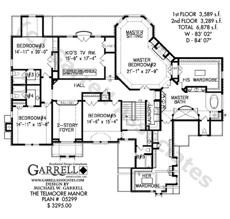 manor floor plan telmoore manor house plan house plans by garrell