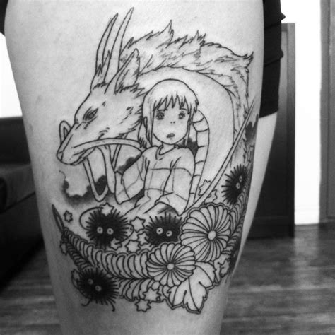 spirited away tattoo session one of three my spirited away with chihiro
